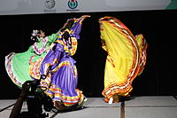 Dancing at the Wikimania 2015 Opening Ceremony IMG 7611.JPG