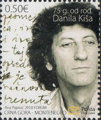 Danilo Kiš 2010 Montenegro stamp