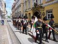 Das Grazer Bürgerkorps ind den Straßen von Graz.JPG