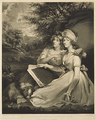 Frankland baronets - Daughters of Sir Thomas Frankland, Bart., mezzotint published 1797