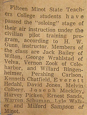 David C. Jones - CPTP Students Solo 1940