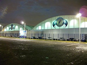 David Beckham Academy - David Beckham Academy, London, at night, designed by RTKL and Buro Happold