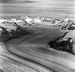 Dawes Glacier, tidewater glacier withe dark medial moraines, August 24, 1969 (GLACIERS 5389).jpg