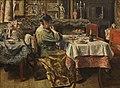 De maaltijd, Henri De Braekeleer, 19de eeuw, Koninklijk Museum voor Schone Kunsten Antwerpen, 2820.jpg