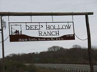 Montauk County Park - Deep Hollow Ranch sign