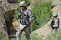 Defense.gov News Photo 110614-F-BP133-024 - U.S. Army Spc. Daniel Miller left and Spc. Daniel Scott both assigned to the Zabul Provincial Reconstruction Team security force provide security.jpg
