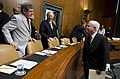 Defense Secretary and Senators Ben Nelson and Joe Lieberman prior to a hearing before the ASC on the START treaty.jpg