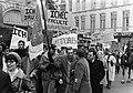 Demonstraties bij het Binnenhof Den Haag tijdens EEG-conferentie. Een Franse dem, Bestanddeelnr 923-0370.jpg
