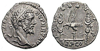 Legio XXX Ulpia Victrix - XXX Ulpia Victrix supported Pannonian army commander, Septimius Severus, in his bid for purple. This denarius was struck in 193 to celebrate the legion.