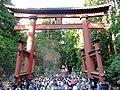 Departure of Myojin mikoshi.Yoshida Fire Festival.JPG