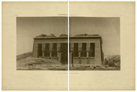 Description of Egypt. 2nd edition. 1822. Vol. 4. Pl. 07 (Old facade of Hathor temple).png