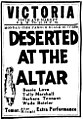 Deserted at the Altar 1922 newspaper.jpg