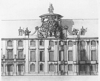 Royal Castle, Warsaw - Design of the Eastern wing by G. Chiaveri.