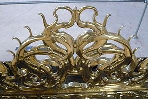 Auricular style - Detail of brass choir-screen by Lutma, Nieuwe Kerk, Amsterdam