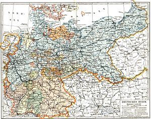 German Reich - Deutsches Reich, 1893 map