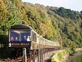 Devon Belle Steam Train approaching Kingswear Station - geograph.org.uk - 1535155.jpg