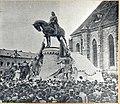 Dezvelirea statuii lui Matei Corvin Cluj-Napoca, 1902.jpg