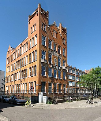 Royal Asscher Diamond Company - The Asscher Diamond Factory former headquarters on the Tolstraat 127 in Amsterdam