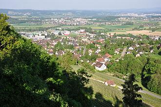 Wehntal - Dielsdorf and western Glatttal as seen from the Regensberg Castle