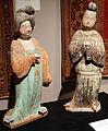 Dinastia tang, dama e uomo pingui, VIII secolo, da xi'an.JPG