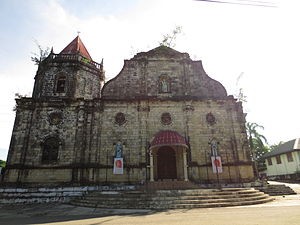 Dingle, Iloilo - Facade of the Saint John the Baptist Parish Church in Dingle
