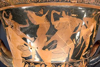 Euphronios - Paris, Louvre G 33: Chalice krater produced in cooperation by Euphronios and Euxitheos