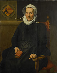 Portrait of Dirckje Tymansdr Gael, called van der Graft, Wife of Mattheus Augustijnsz Steyn