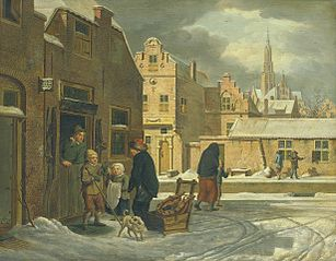Cityscape in winter