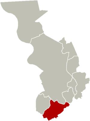 Wilrijk - Image: District Wilrijk Location