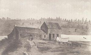 Dixon's Ferry - Dixon's Ferry on the Rock River, pre-1903.