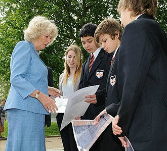 Knights Templar School - The Duchess of Cornwall talks to students from the school in 2012