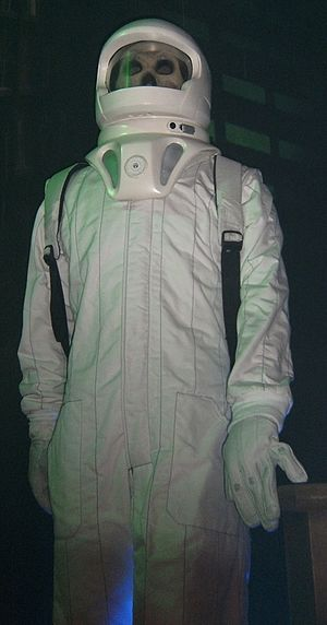 Forest of the Dead - The Vashta Nerada inhabit the suit as shown at the Doctor Who Experience.