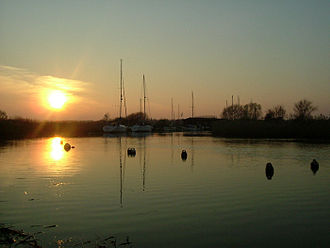 River Frome, Dorset - The Frome estuary at Wareham
