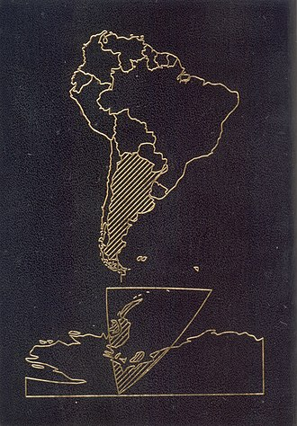 Argentine passport - The back cover of the current version version of the Argentine passport