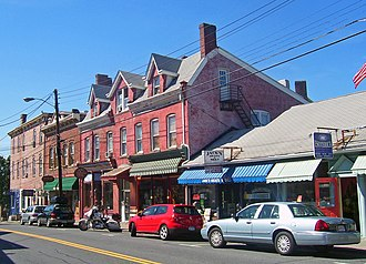 New Paltz (village), New York - Buildings on Main Street downtown