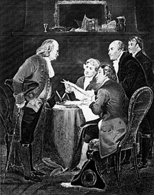 Drafting of the Declaration of Independence. T...
