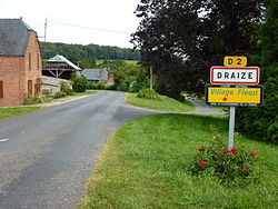 Draize (Ardennes) city limit sign.JPG