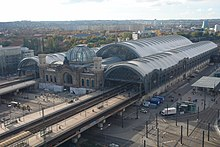 Cubiertas y cúpula del Dresden Hauptbahnhof. Norman Foster