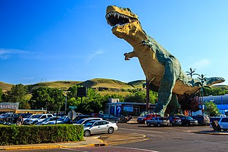 """Roadside attraction - The """"World's Largest Dinosaur"""", a roadside attraction in Canada"""