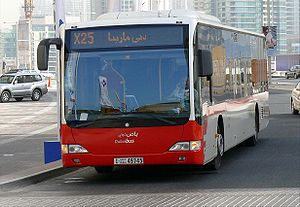 Transportation in Dubai - An RTA Mercedes-Benz citaro