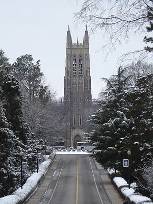Duke Chapel - Duke Chapel in winter