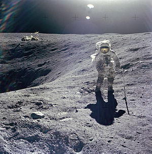 Charles Duke - Duke on lunar EVA during Apollo 16, April 1972