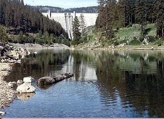 North Fork Clearwater River - Dworshak Dam on the North Fork Clearwater, near its mouth