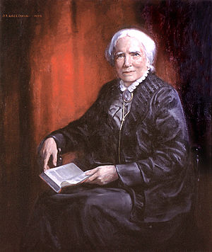 Elizabeth Blackwell - Portrait of Elizabeth Blackwell by Joseph Stanley Kozlowski, 1905. Syracuse University Medical School collection.