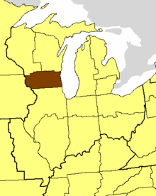 Location of the Diocese of Milwaukee
