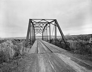 National Register of Historic Places listings in Hot Springs County, Wyoming - Image: EFP Bridge over Owl Creek