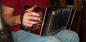 Tango music - Early bandoneón, constructed ca. 1905