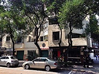 Edificio México - Side view from Avenida Ixtaccíhuatl