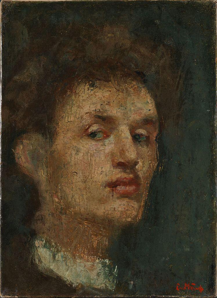 Self portrait of Edvard Munch