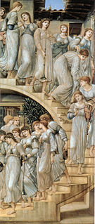 <i>The Golden Stairs</i> painting by Edward Burne-Jones